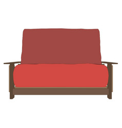 sofa red interior room furniture modern design vector image