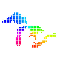 Spectrum dotted great lakes map vector