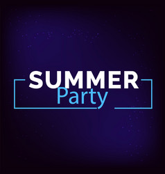 summer party square frame blue background i vector image
