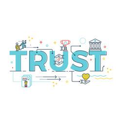 Trust word lettering vector