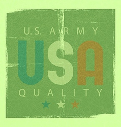 usa retro poster army quality shabby grunge vector image