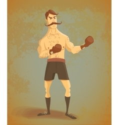 Vintage boxer stands in rack vector
