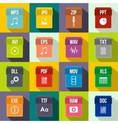 Web document icons set flat style vector