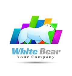 White Bear polar logo design Template for your vector