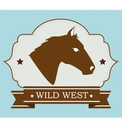 Wild west culture vector image