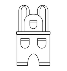 Work clothes icon outline style vector