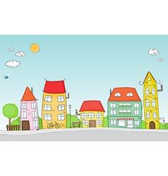cute street vector image vector image