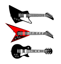 electric guitars set vector image