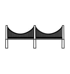 new york bridge isolated icon vector image