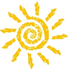 sign in the form of a stylized Sun vector image vector image