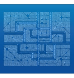 Blueprint plan vector image