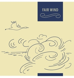 Fair wind background vector image vector image