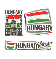 logo for hungary vector image vector image