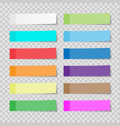 set of paper sheets or sticky stickers isolated vector image vector image