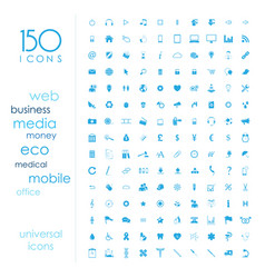 150 universal icons vector image vector image