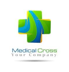 Abstract medical hospital logo template design for vector image