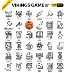 fancy vikings game icons vector image vector image