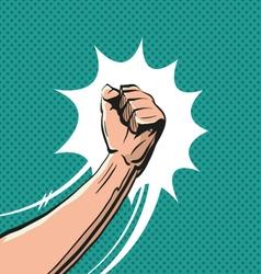 Fisticuff comic book vector image