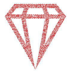 Gem fabric textured icon vector