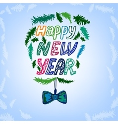 New Year lettering background vector image vector image