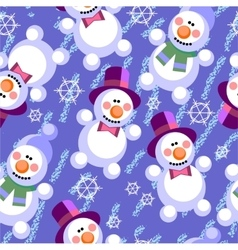 Seamless abstract snowman grunge texture 536 vector image