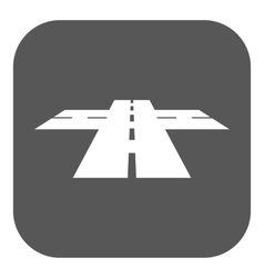 The crossroads icon Crossway and crossing vector image
