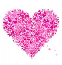 valentine heart shape love vector image