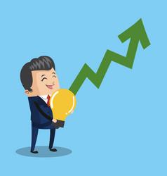 business with idea cartoon vector image