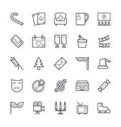 Celebration and party cool icons 3 vector