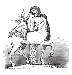 Chiron Centaur vintage engraving vector image vector image