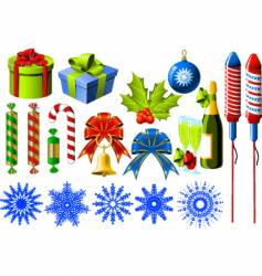 Christmas symbols vector image vector image