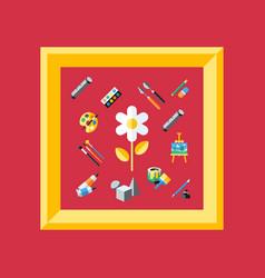 digital red artist vector image vector image