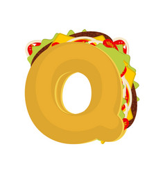 letter q tacos mexican fast food font taco vector image vector image