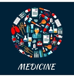 Medicine symbols background with icons vector image