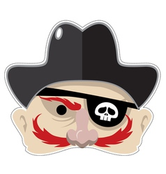 Pirates mask vector