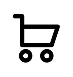 shopping cart linear icon linear web icon vector image vector image