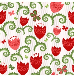 Spring white seamless pattern vector image vector image