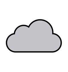 sun cloud weather forecast climate sky vector image