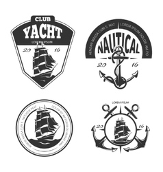 Vintage nautical logo labels and badges vector image vector image