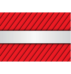 abstract silver banner red shutter pattern vector image