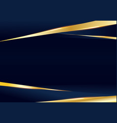 Abstract template dark blue and golden luxury vector