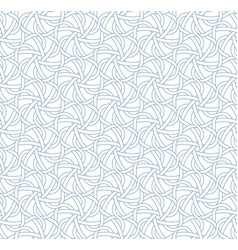 abstract weave seamless pattern in blue color vector image