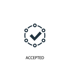 accepted icon simple element vector image