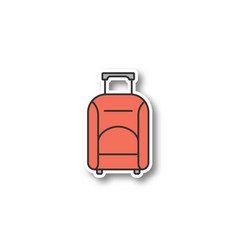 baggage patch vector image