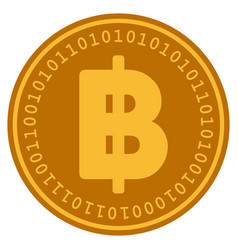 Baht digital coin vector