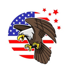 bald eagle and star strips background vector image