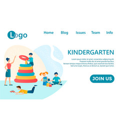 Banner kindergarten and basitter vector