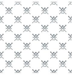 baseball club pattern seamless vector image