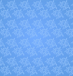 Beautiful vine pattern on a blue background vector image