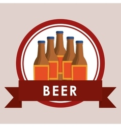 beer bottles label vector image